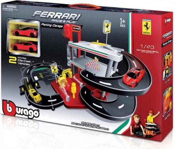 Ferrari Race & Play - Parking Garage (Speelgoed) (Incl. 2 Ferrari Schaalmodellen)