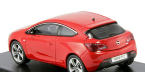 Opel Astra OPC Dealermodel (Rood) (12cm) 1/43 Motor Art