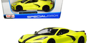 2020 Chevrolet Corvette Stingray Coupe Z51 (Geel) (15cm) 1/24 Maisto