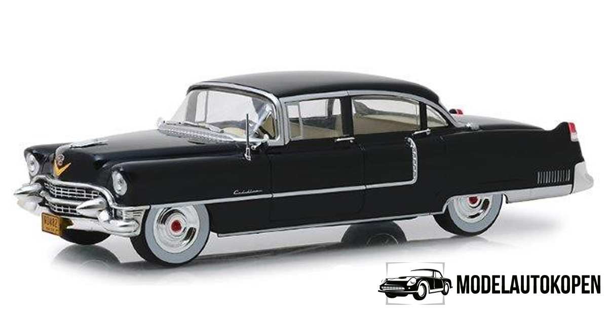 The Godfather 1955 Cadillac Fleetwood Series 60 (Zwart) (35cm) 1/18 Greenlight