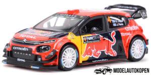 Citroën C3 WRC - Rally Monte Carlo 2019 - Sébastien Ogier (Rood) (15cm) 1/32 Bburago