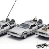Back To The Future Delorean Set van 3 (Grijs) (15 cm) 1/24 Welly