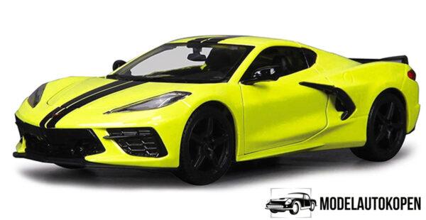 2020 Chevrolet Corvette Stingray Coupe Z51 (Geel) (15cm) 1/24 Maisto