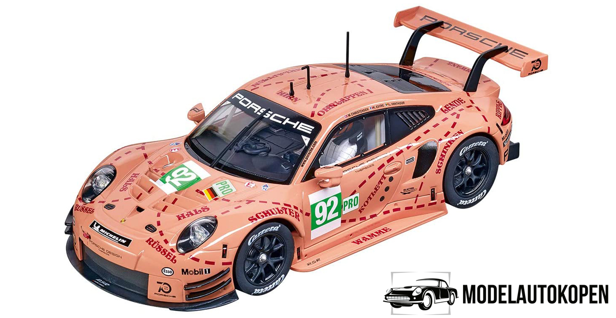 Porsche 911 GT3 RSR 'Limited Edition Series' (Roze) (30cm) 1/18 IXO Models