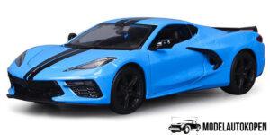 2020 Chevrolet Corvette Stingray Coupe Z51 (Blauw) (15cm) 1/24 Maisto