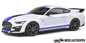 Ford Mustang GT500 (Wit/Blauw) (30cm) 1/18 Solido