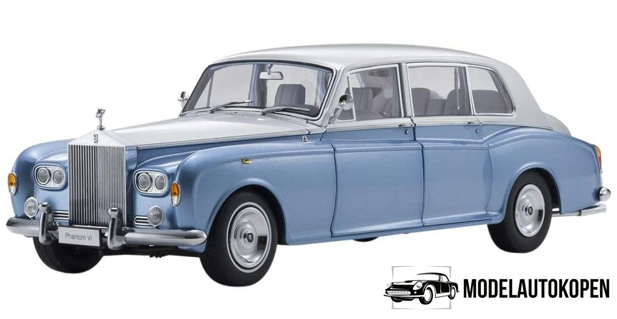 Rolls Royce Phantom VI 1968 (Lichtblauw/Zilver) (41 cm) 1/18 Kyosho
