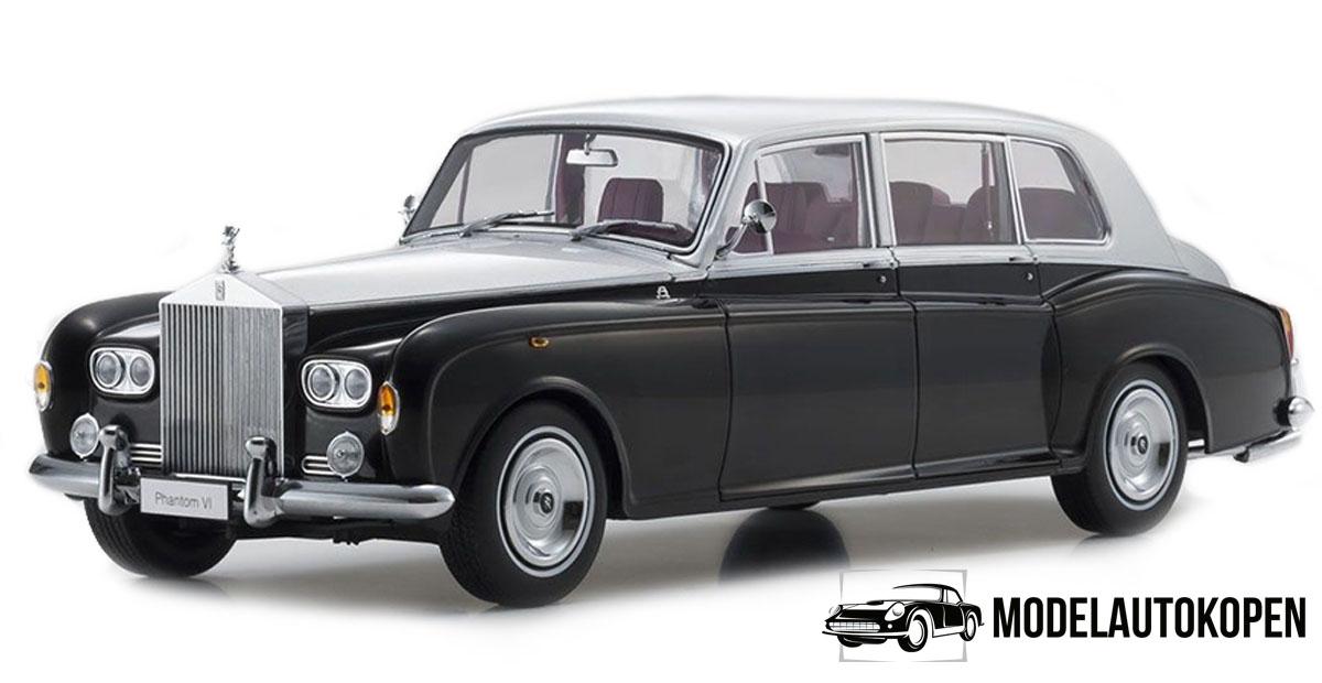 Rolls Royce Phantom VI 1968 (Zwart/Zilver) (41 cm) 1/18 Kyosho