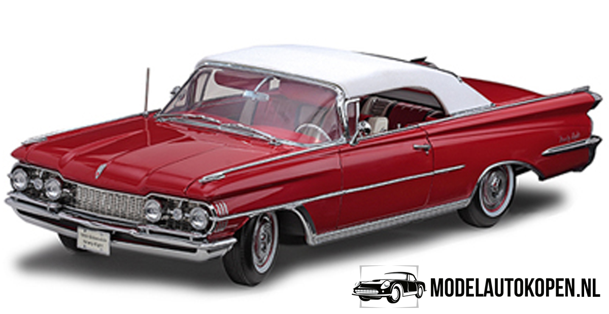 """1959 Oldsmobile """"98"""" Convertible - The Platinum Collection (Rood) (30cm) 1/18 Sun Star"""
