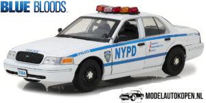 Ford Crown Victoria Police Interceptor (Jamie Reagan Blue Bloods) (30cm) Wit 1/18 Greenlight