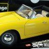 Porsche 356B Cabriolet 1961 (Geel) (25cm) 1/18 Bburago