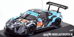Porsche 911 GT3 RSR #77 (Zwart/Lichtblauw) (10cm) 1/43 IXO Models