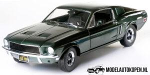 Ford Mustang GT (Steve McQueen BULLIT) (Groen) (35cm) 1/18 Greenlight