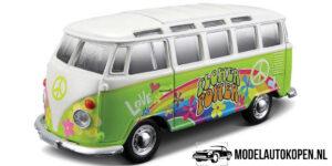 Volkswagen Van Samba Hippie Line (Groen) (15cm) 1/24 Maisto