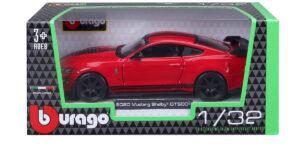 Ford Shelby GT500 2020 (Rood/Zwart) (11 cm) 1/32 Bburago