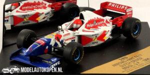 Arrows Hart FA17 - Dutch Driver Jos Verstappen - Brasil G.P. 1996 (Wit) (12 cm) 1/43 ONYX