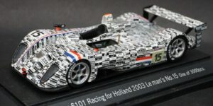 Dome S101 Racing for Holland 2003 Le Mans No. 15 One of 3000pcs. (Wit) (12 cm) 1/43 Ebbro