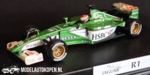 Jaguar R1 Johnny Herbert (Groen) 1/43 Hot Wheels Racing