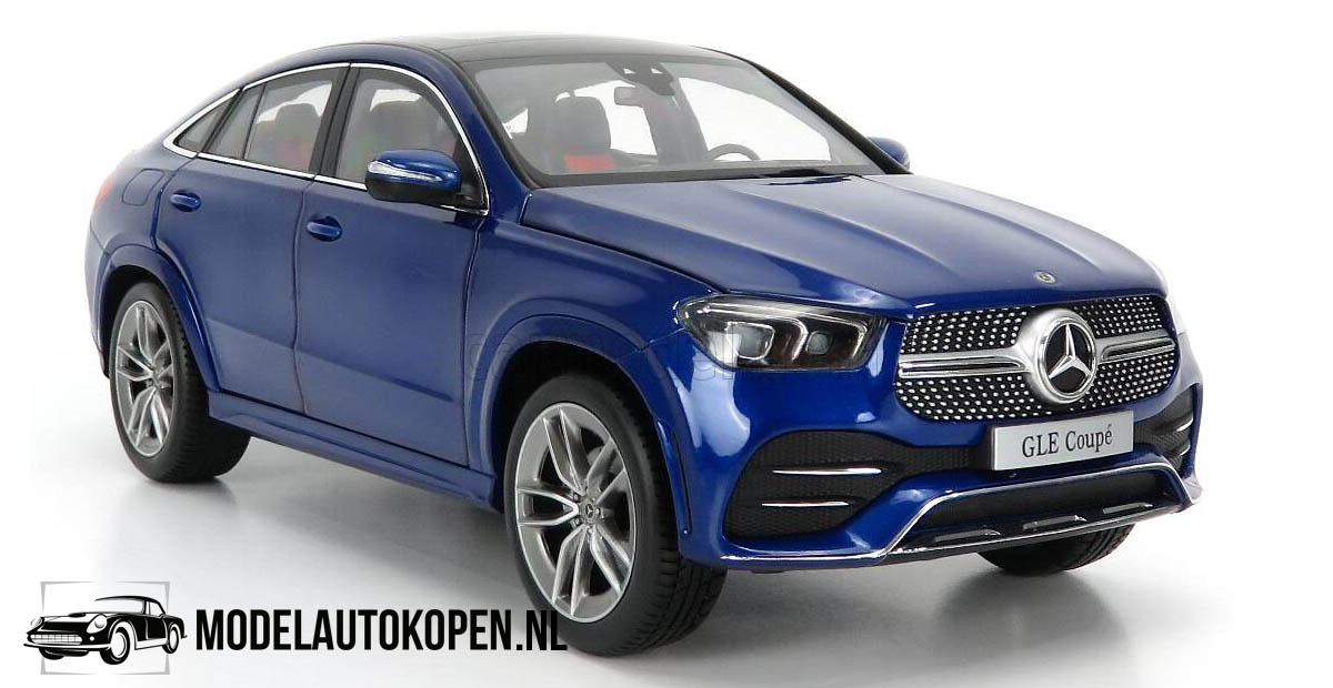 Mercedes-Benz GLE Coupe 2020 (Blauw) (30 cm) 1/18 iScale