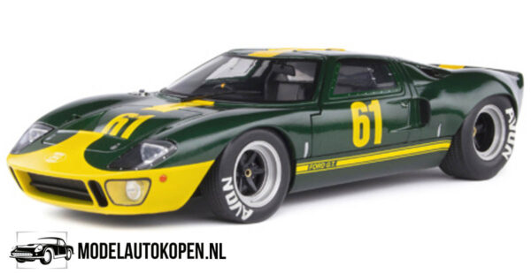 Ford GT40 (Groen/Geel) (23 cm) 1/18 Solido