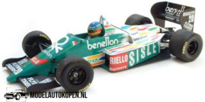 Benetton BMW B186 G. Berger 1986 (Groen) (12 cm) 1/43 MiniChamps