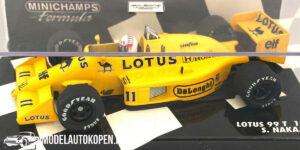 Lotus 99T 1987 S. Nakajima (Geel) (12 cm) 1/43 MiniChamps