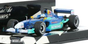 Red Bull Sauber Petronas C20 K. Raikkonen (Blauw) (12 cm) 1/43 MiniChamps
