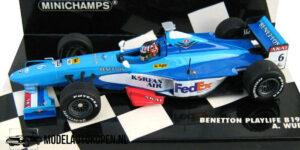 Benetton Playlife B198 A. Wurz (Blauw) (12 cm) 1/43 MiniChamps