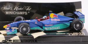 Red Bull Sauber Petronas C18 J. Alesi 1999 (Blauw) (12 cm) 1/43 MiniChamps