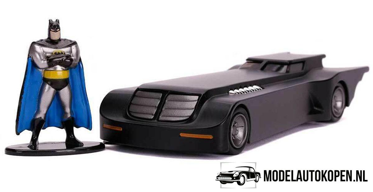 Batman Batmobile (Animated Series) + Speelfiguur (Zwart) (11 cm) 1/32 JADA