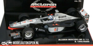 McLaren Collection Mercedes MP4-17D D. Coulthard (Zilver) (12 cm) 1/43 MiniChamps