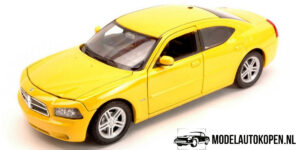 Dodge Charger Daytona R/T 2006 (Geel) (17 cm) 1/24 Welly