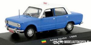 Lada-Vaz 2101 Addis Ababa 1980 Taxi (Blauw) (15cm) 1/43 Atlas
