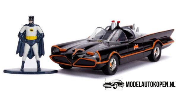 Batman Batmobile (Classic TV Series) 1966 + Speelfiguur (Zwart) (11 cm) 1/32 JADA
