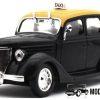 Ford V8 Montevideo 1950 Taxi (Zwart) (15cm) 1/43 Atlas