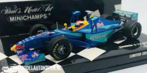 Sauber C17 Petronas J. Herbert ''Tower Wing'' (Blauw) (12 cm) 1/43 MiniChamps