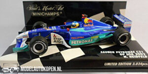Sauber Petronas C21 GP USA 2002 - N. Heidfeld (Blauw) (12 cm) 1/43 MiniChamps