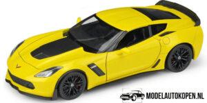 2017 Chevrolet Corvette Z06 (Geel) (17 cm) 1/24 Welly