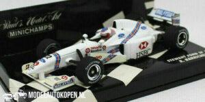 Stewart Ford SF1 R. Barrichello (Wit) (12 cm) 1/43 MiniChamps
