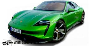 Porsche Taycan (Groen) (9 cm) 1/43 Bburago