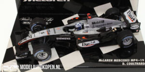 McLaren Mercedes MP4-19 D. Coulthard (Zilver) (12 cm) 1/43 MiniChamps