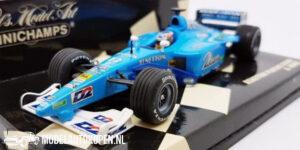 Benetton Playlife B200 A. Wurz (Blauw) (12 cm) 1/43 MiniChamps