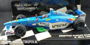 Benetton Playlife B199 A. Wurz 1999 (Blauw) (12 cm) 1/43 MiniChamps