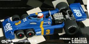 Tyrrell P34 1976 6-Wheeler J. Scheckter (Blauw) (12 cm) 1/43 MiniChamps