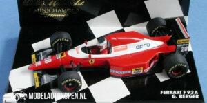 Ferrari F93A G. Berger (Rood) (12 cm) 1/43 MiniChamps