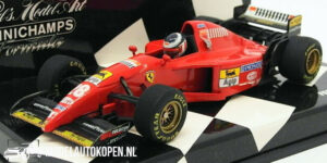 Ferrari 412 T2 G. Berger (Rood) (12 cm) 1/43 MiniChamps
