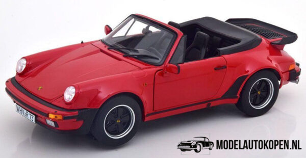 1987 Porsche 911 Turbo Cabriolet (Rood) (25 cm) 1/18 Norev