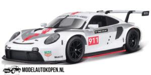 Porsche 911 RSR (Wit) (20 cm) 1/24 Bburago