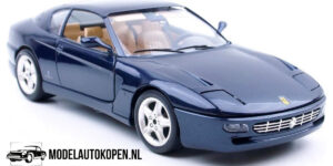 Ferrari 456GT 1992 (Donkerblauw) (30cm) 1/18 Bburago