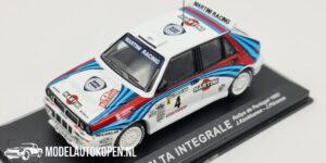 Lancia Delta Integrale - Rallye de Portugal 1992 (Wit) (10 cm) 1/43 Atlas